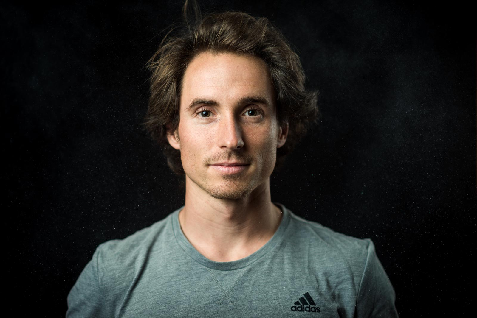 Portrait of American climber Carlo Traversi