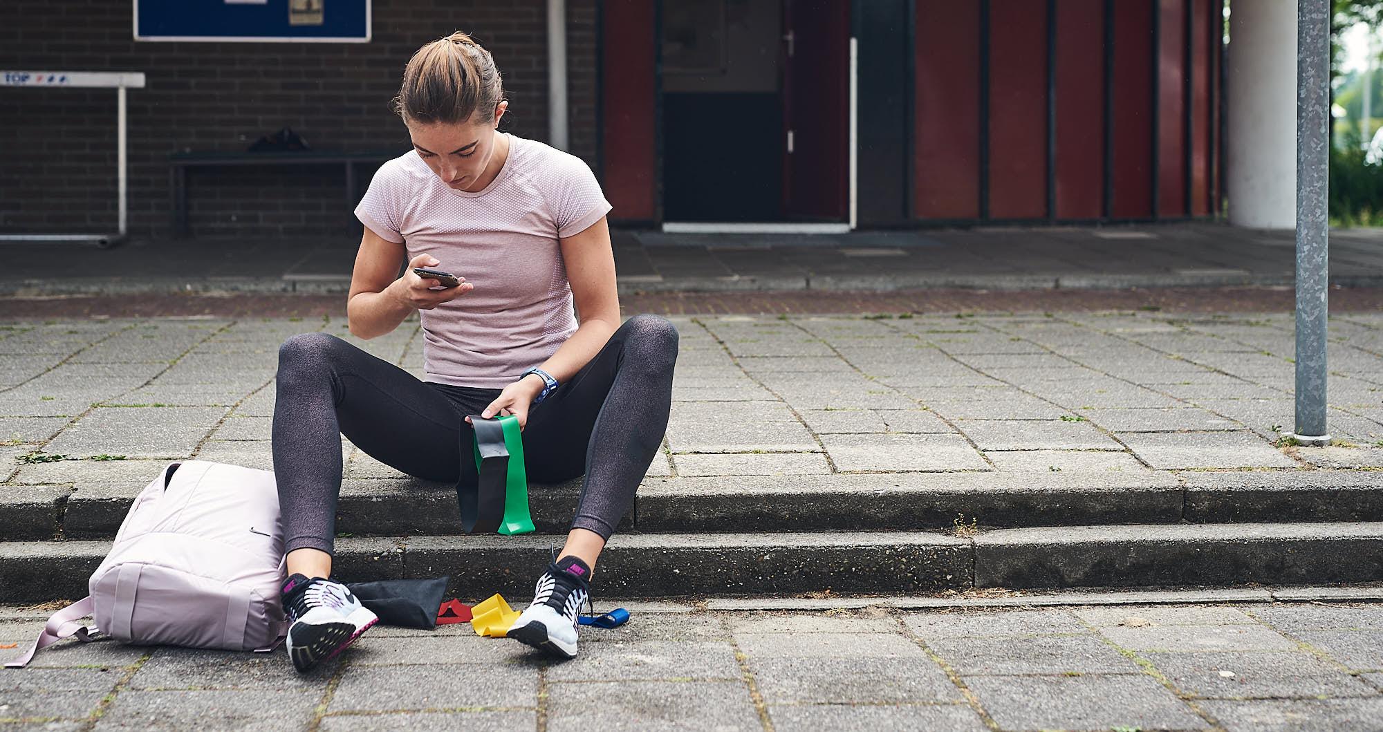 Hurdles athlete Bianca Baak preparing for training