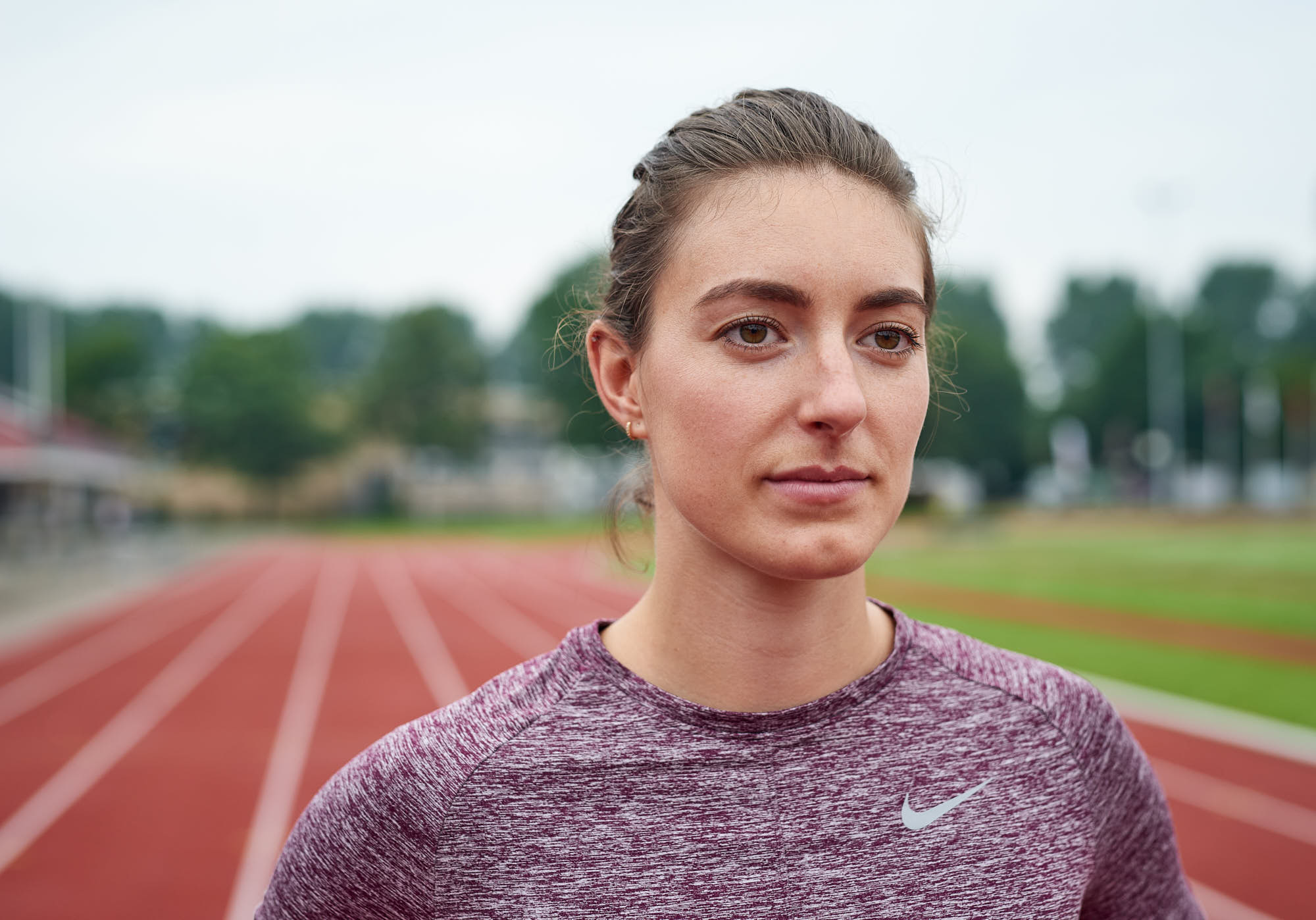 Portrait of Bianca Baak, a top hurdles athlete from The Netherlands