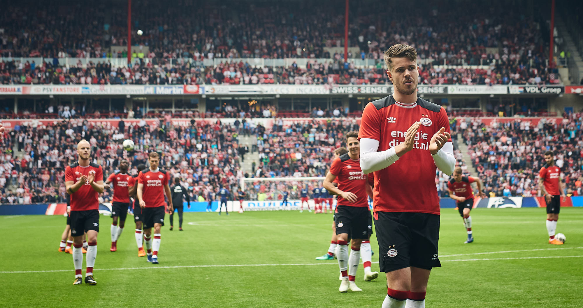 Football player Marco van Ginkel during warm-up for PSV Eindhoven