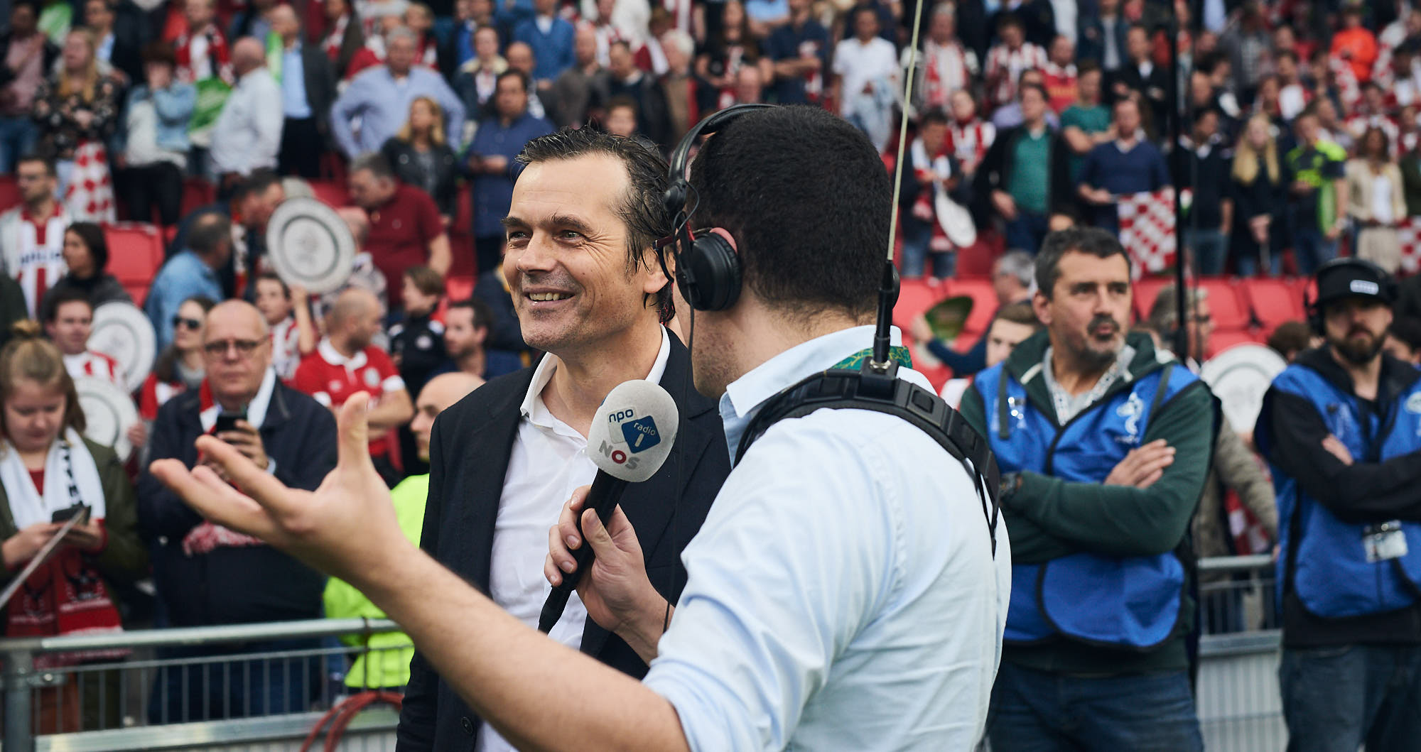 PSV coach Philip Cocu in an interview after becoming champion
