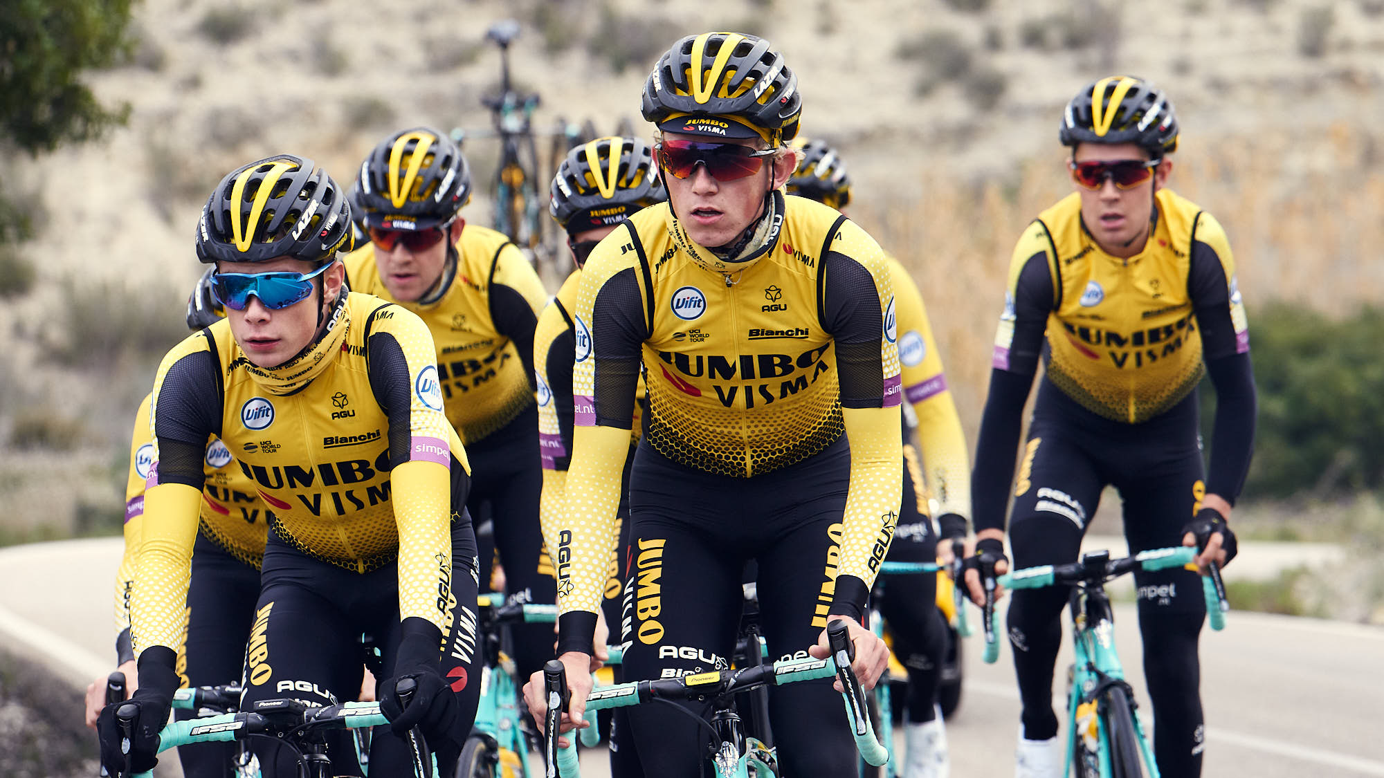 Jumbo-Visma rider Koen Bouwman training in Alicante