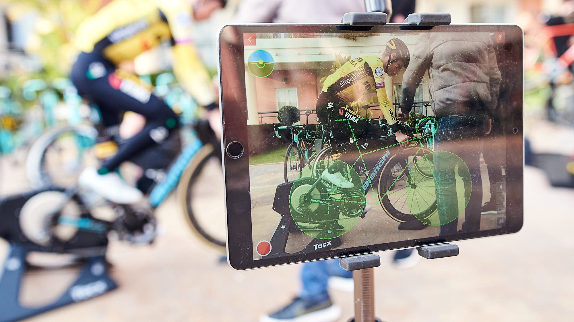 iPad used to perfect time trial position on a bike
