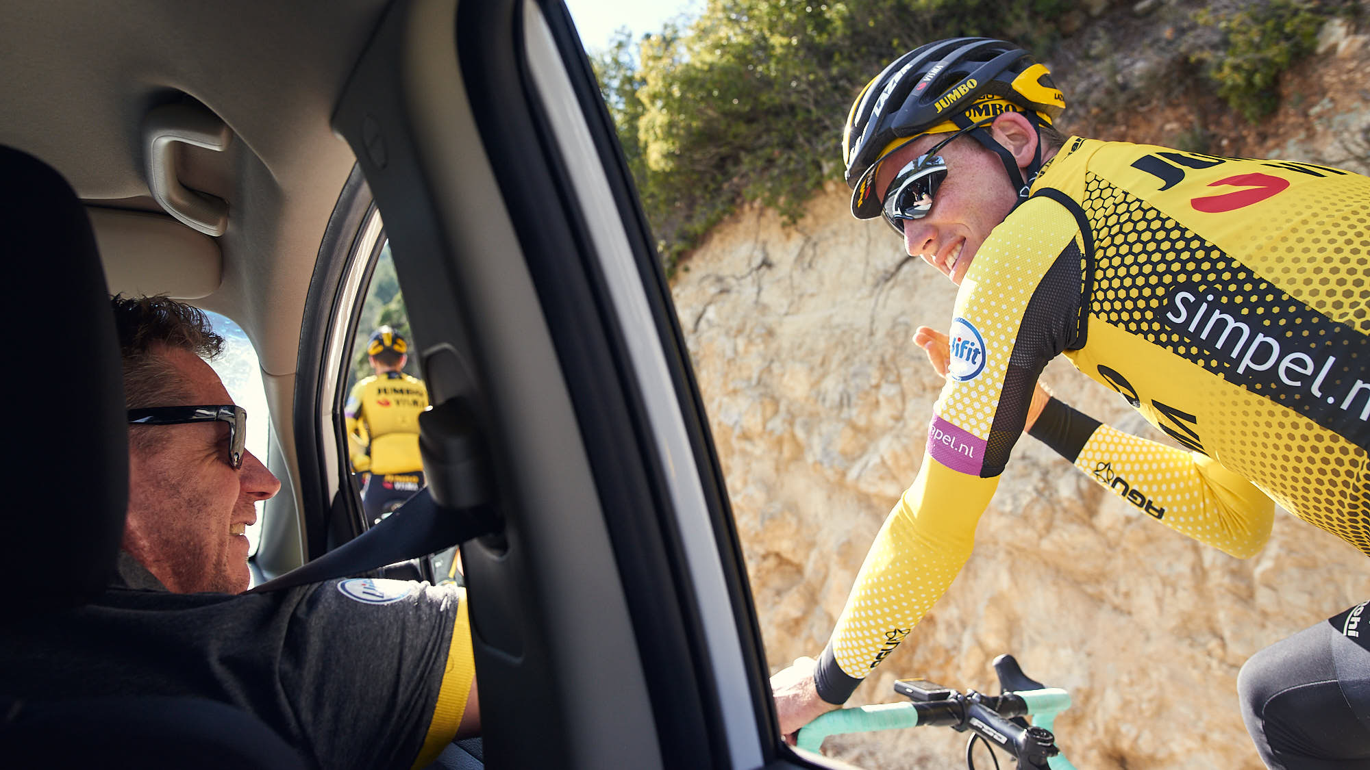 Jumbo-Visma rider Mike Teunissen during Alicante training stage