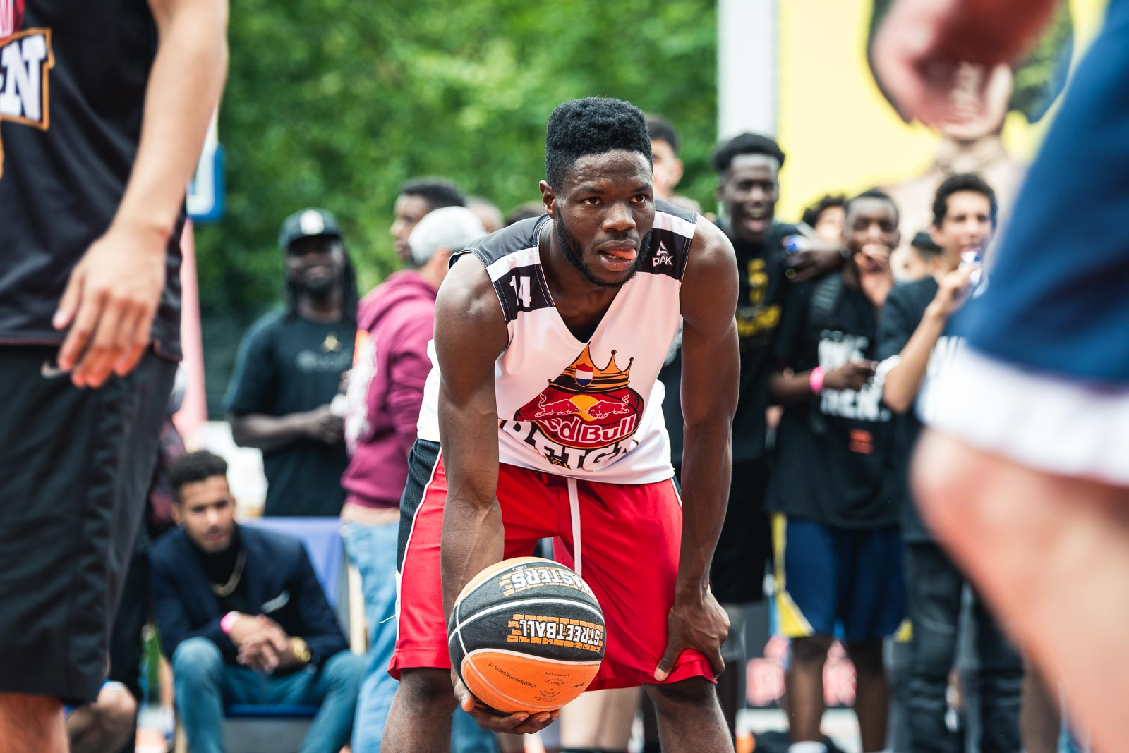 Basketball player holding the ball during Red Bull Reign