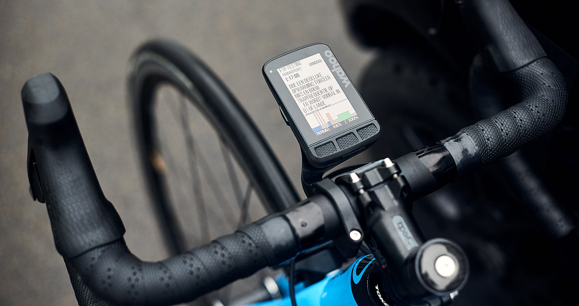 Head unit on a road bike