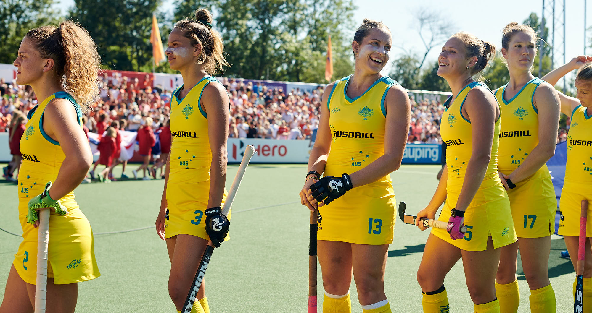 Australian national hockey team players before FIH Pro league finals in Amsterdam
