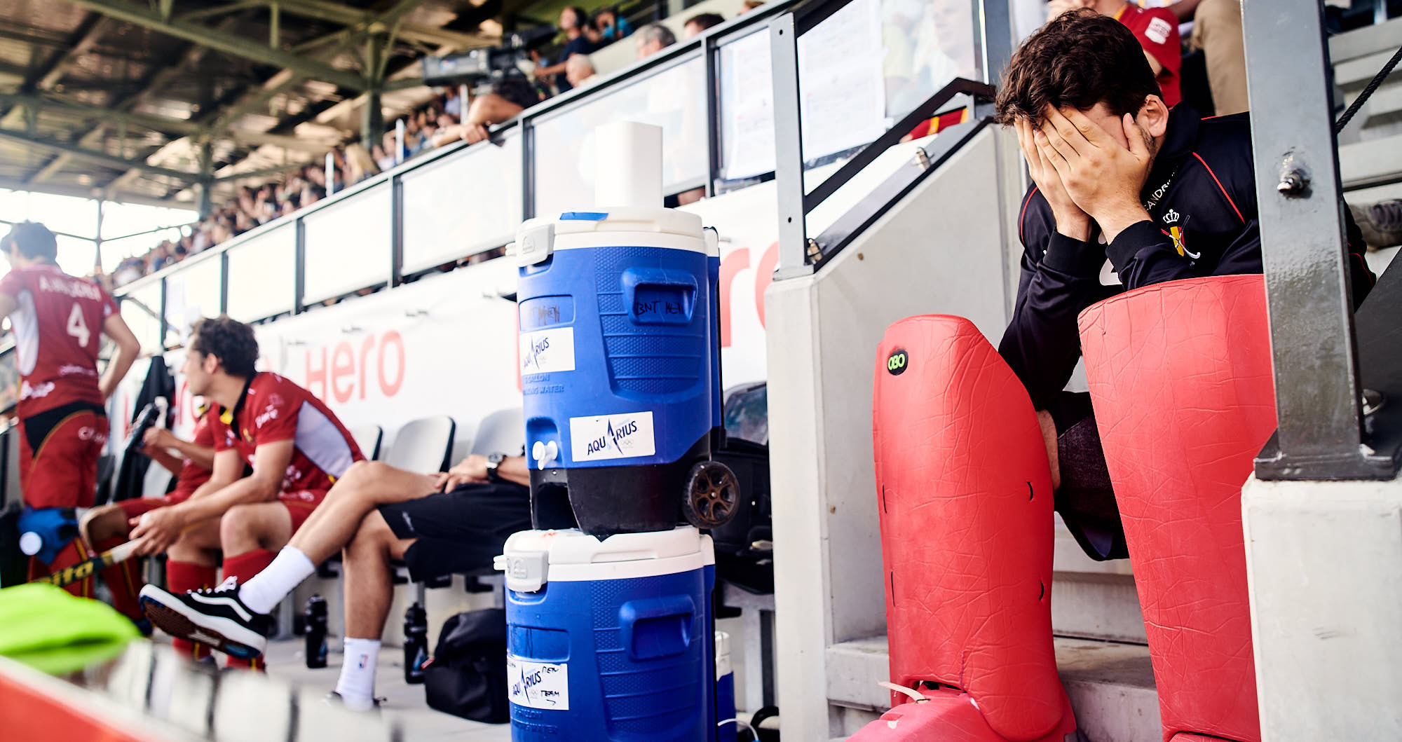 Belgium national team goalkeeper disappointed during 2019 FIH Pro League finals in Amsterdam