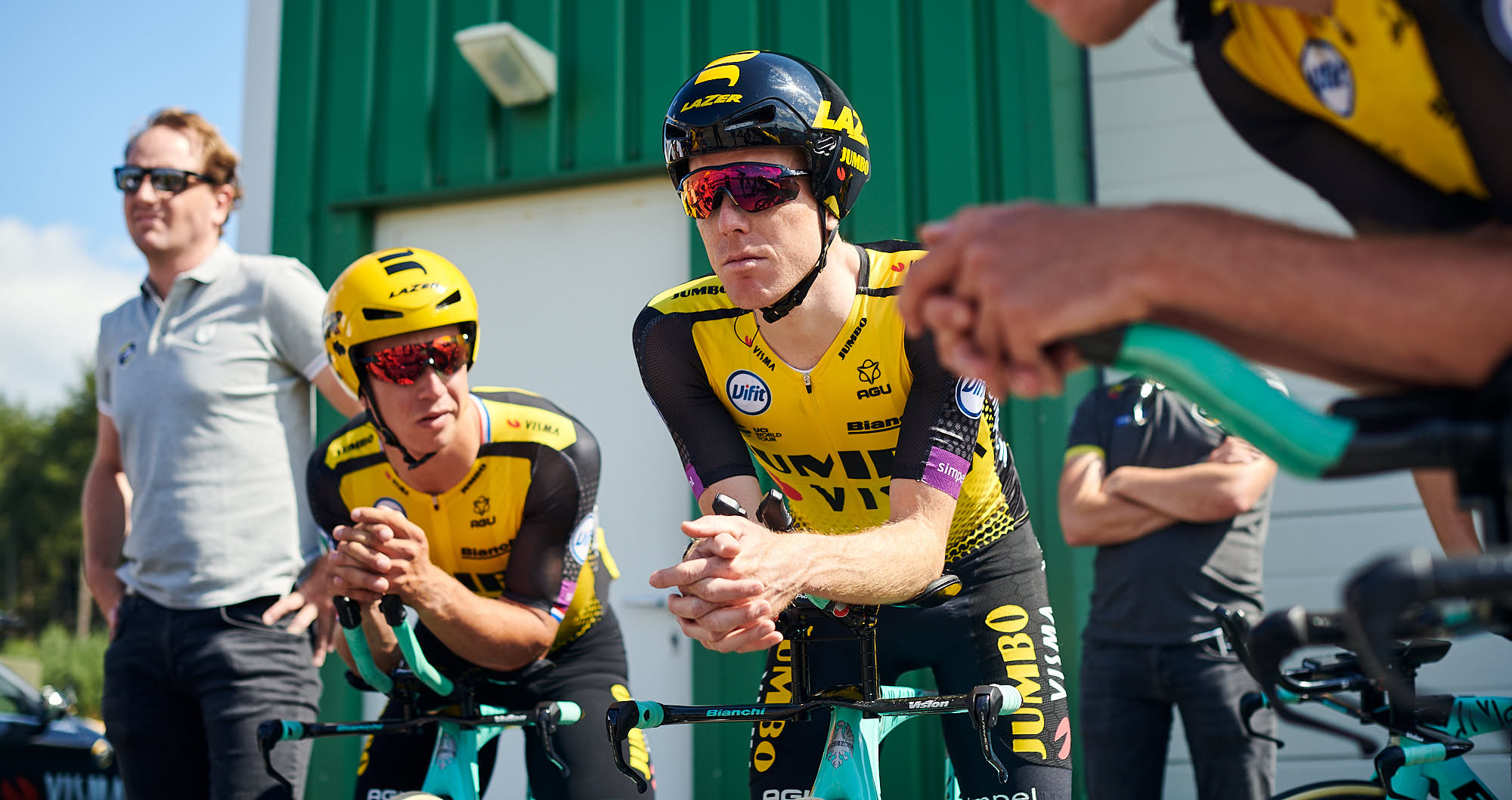 Jumbo-Visma cyclist Steven Kruiswijk before training