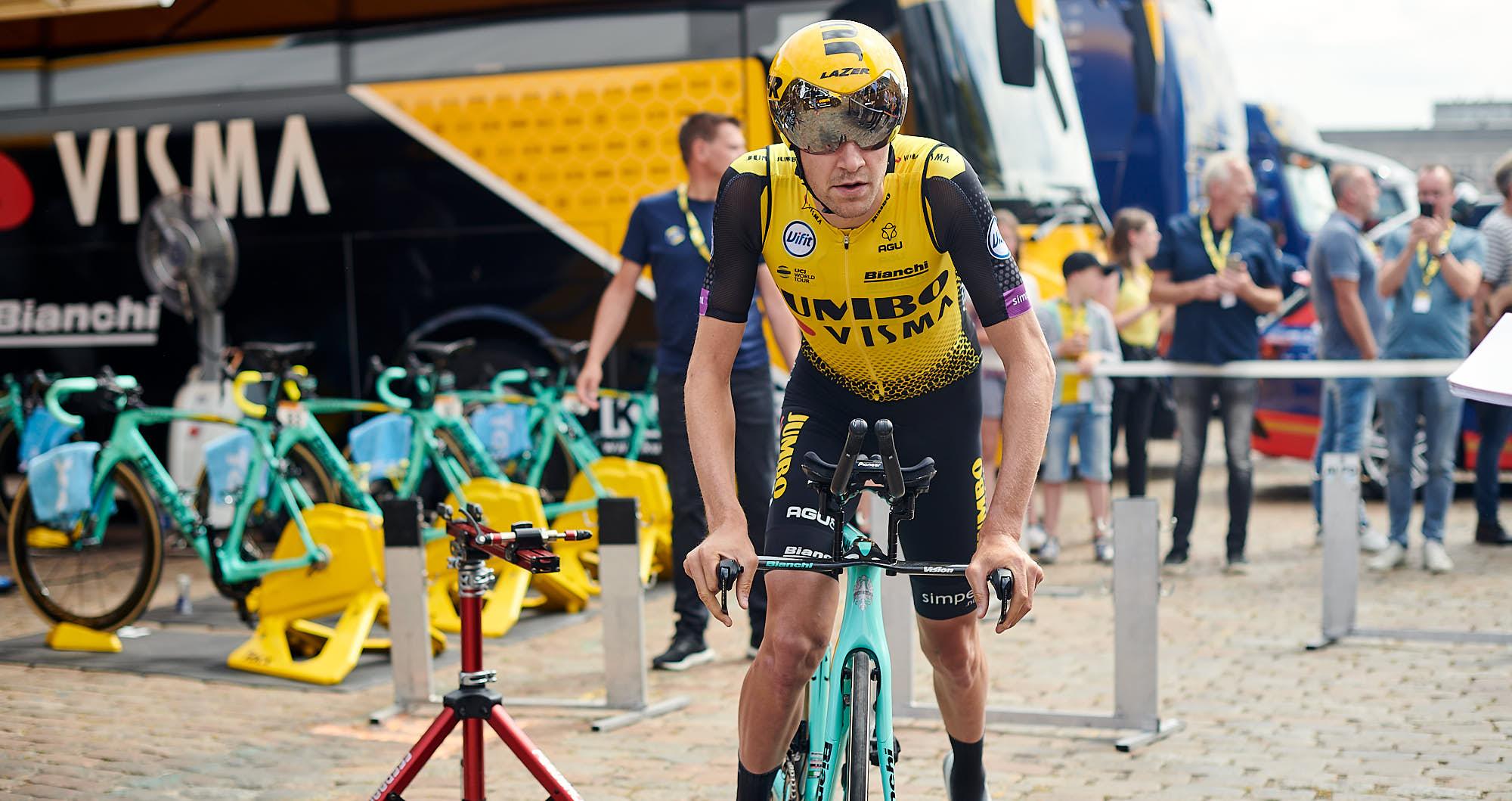 Belgian young cyclist Laurens de Plus at the 2019 Tour de France