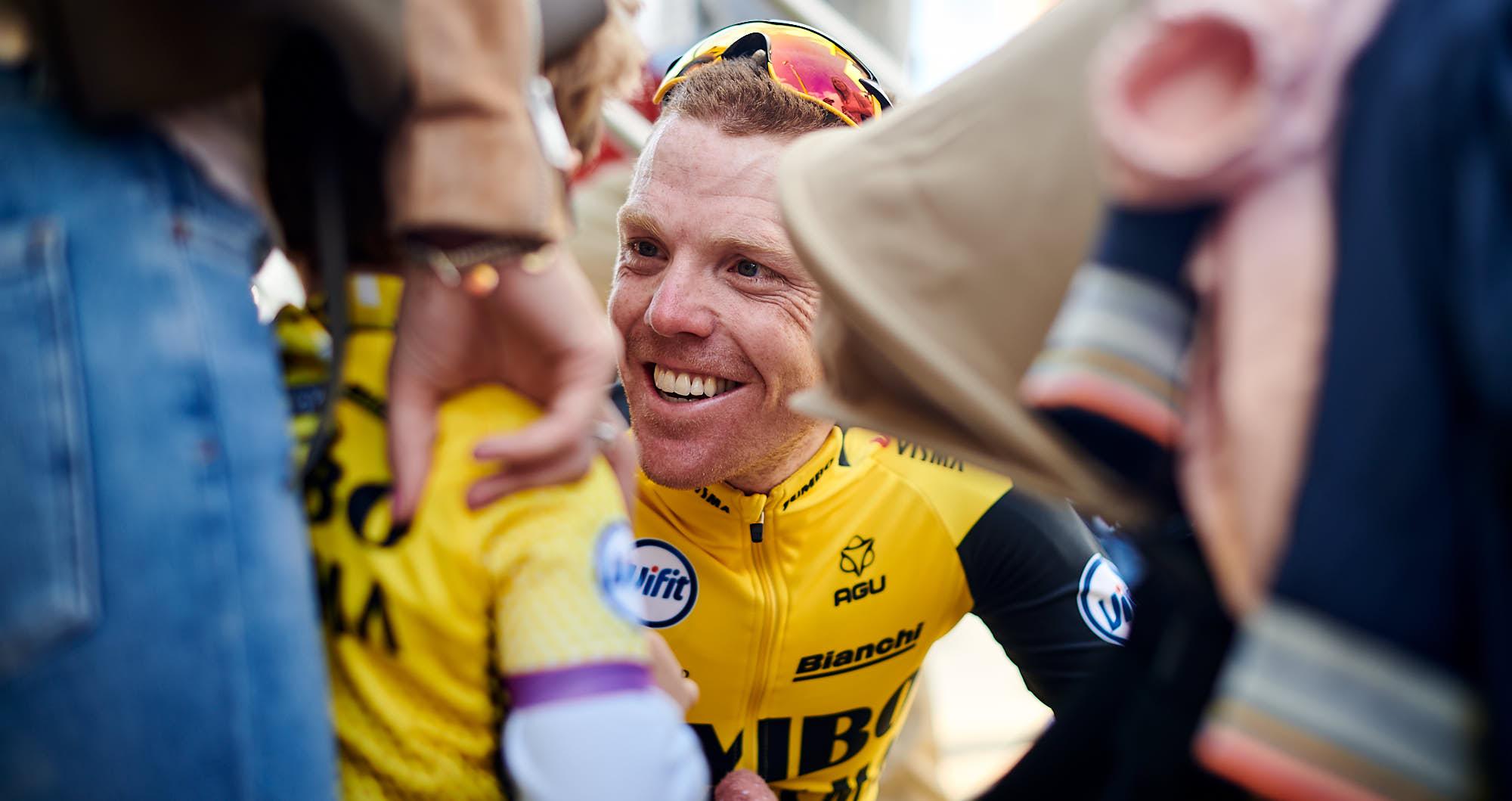 Team Jumbo-Visma rider Steven Kruiswijk after the 2019 Tour de France TTT