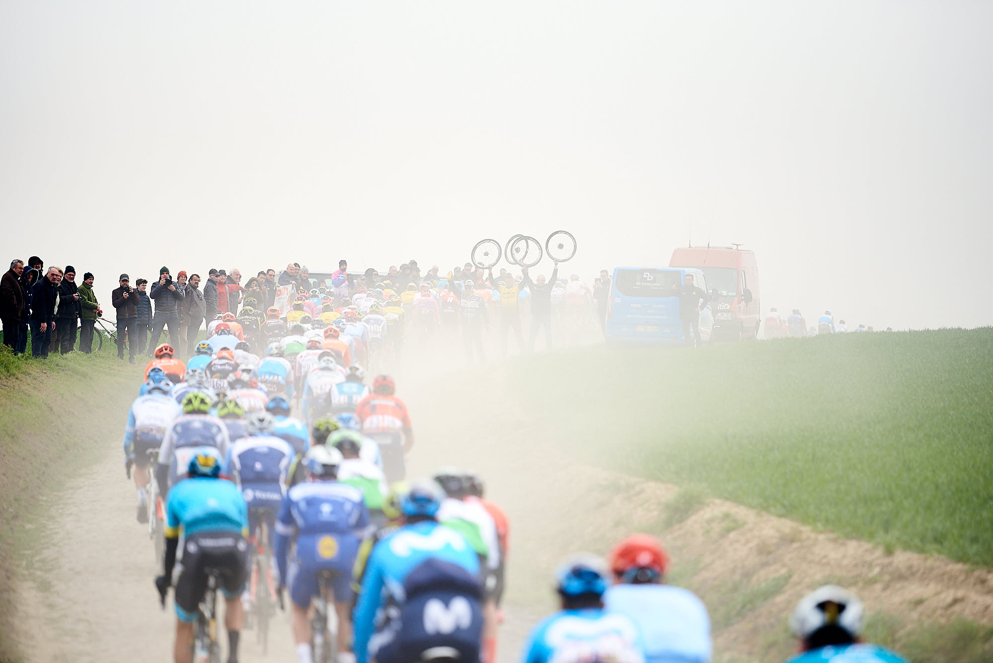 Riders on the cobbles of Paris-Roubaix