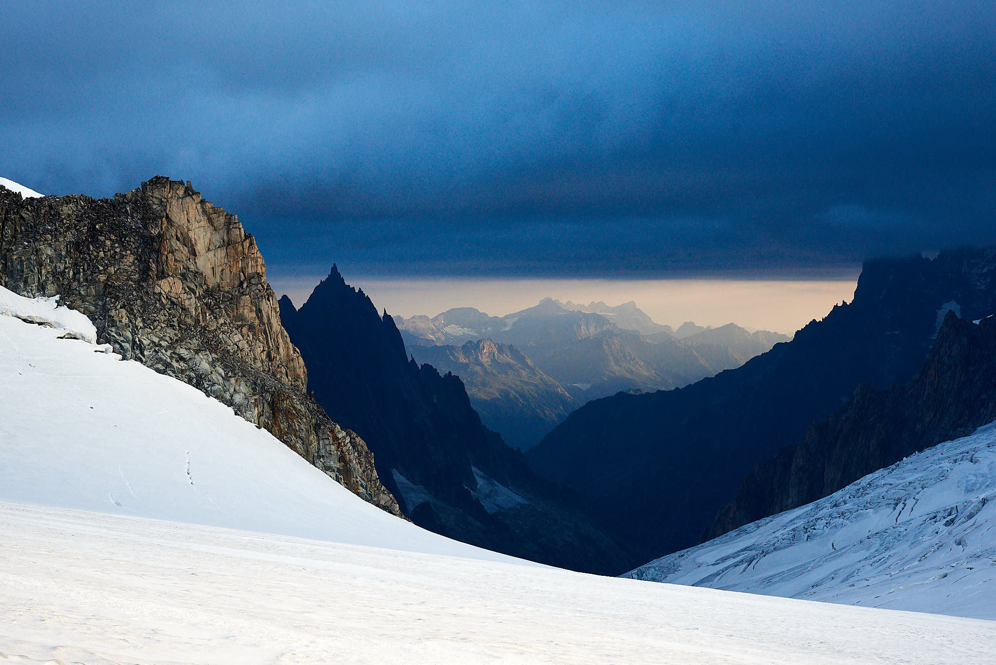 View of French Alps near Mont Blanc