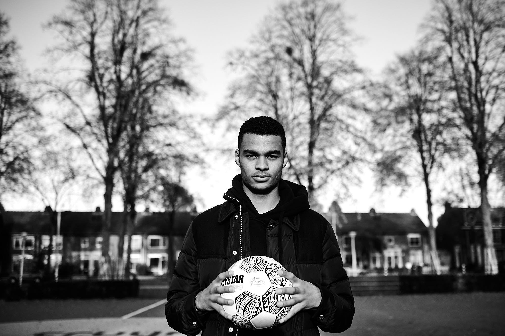 Portrait of Cody Gakpo, PSV Eindhoven winger