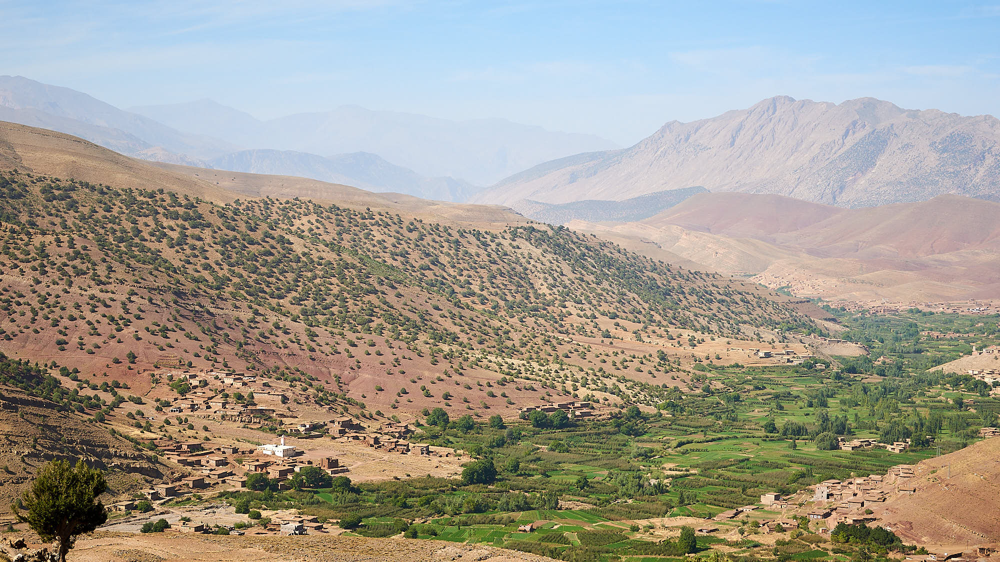 View of a valley in Morocco's High Atlas