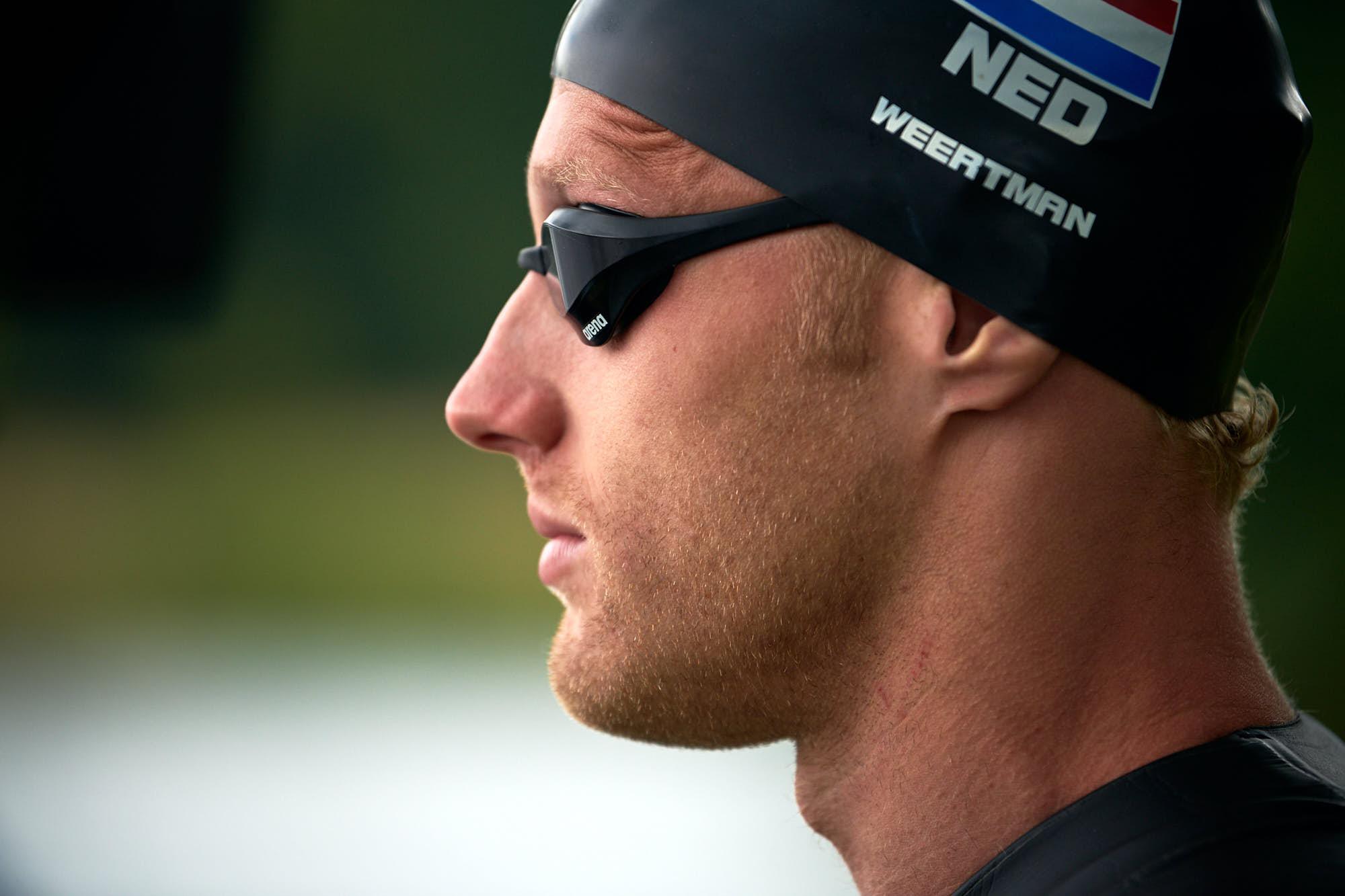 Focus on face of Ferry Weertman