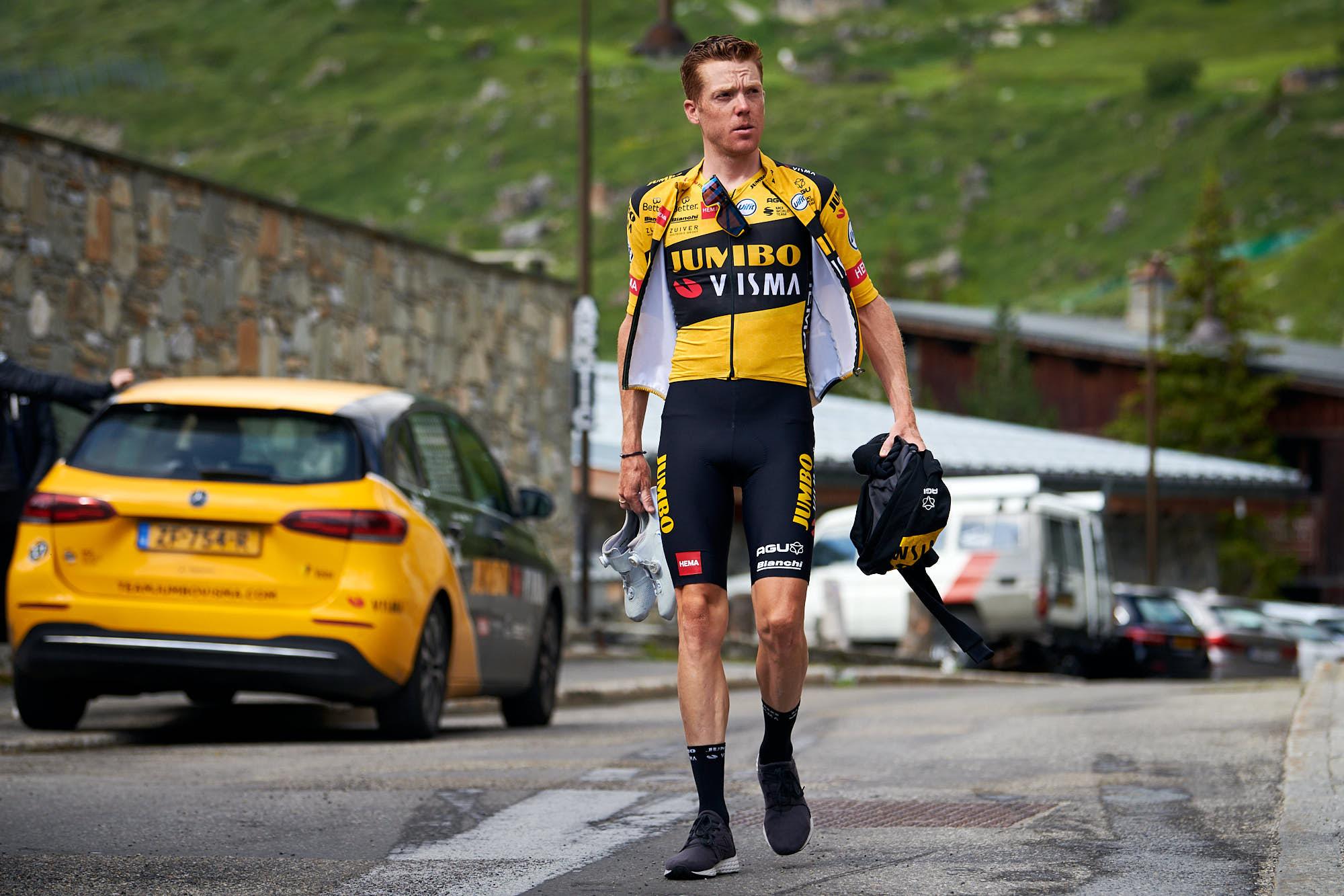 Steven Kruijswijk before training in Tignes